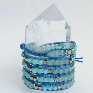Wrap Bracelet with Amazonite
